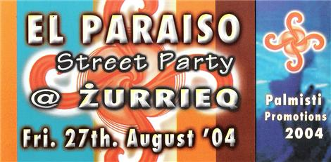 El Paraiso Flyer - Aug '04